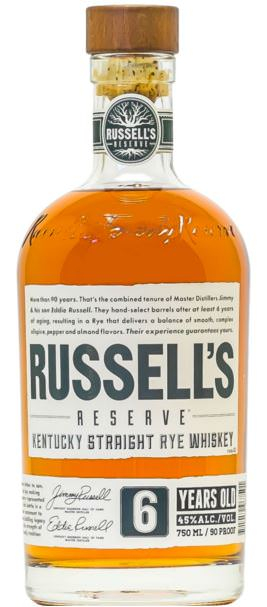 Russell's Reserve Rye 6yr 90 proof